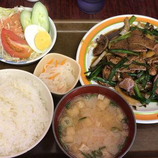 レバー炒め定食(幸龍)