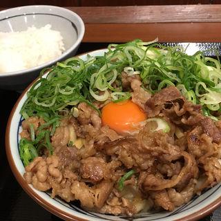 牛すき釜玉 並 肉増し(丸亀製麺 伊丹南町店 )