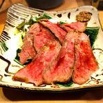 黒毛和牛イチボ肉の「ローストビーフ」