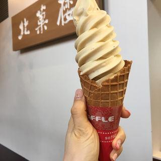 ラムレーズンソフトクリーム(北菓楼札幌本館)