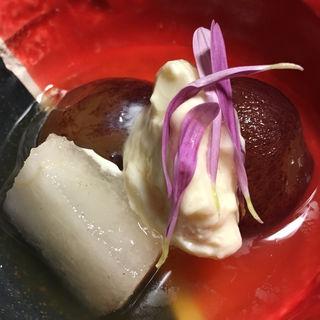 梨と葡萄の白州掛け(三桝家 )