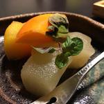 林檎蜜煮 柿