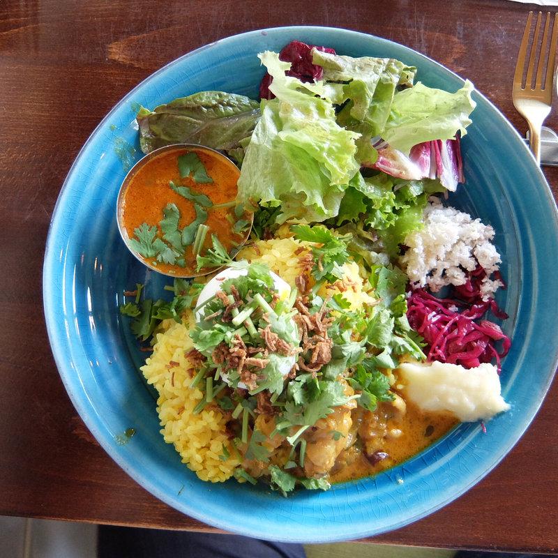 Curry W(Ebi&Chicken)パクチートッピング