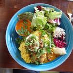 Curry W(Ebi&Chicken)パクチートッピング(グッドラックカリー )