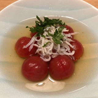 トマトのお浸し 釜揚げしらす添え(京乃菜 (キョウノナ))