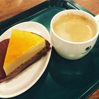 濃厚チーズケーキセット(プロント Tokyo City i CAFE店 (PRONTO))