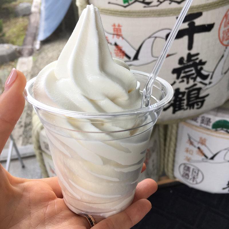 酒粕ソフトクリーム