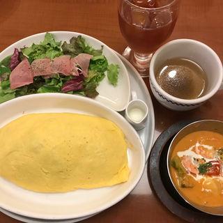 オムライスプレート(卵と私 新宿ミロード店 (タマゴトワタシ))