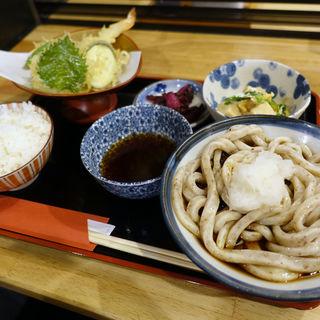 天ぷら盛りとおうどんのセット(そば喜邐 山く (ソバキリ サンク))