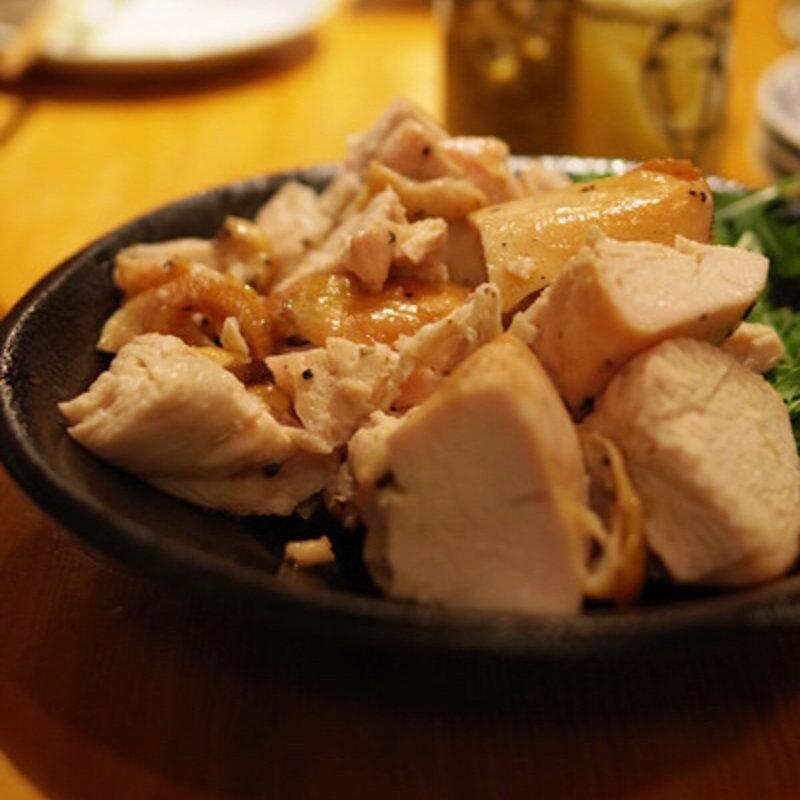 神明鶏の肉汁焼き(ヘルシー手羽むね)