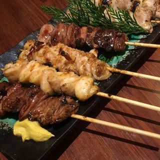 串焼き盛合せ(ちゃんこ 玉海力 赤坂店)