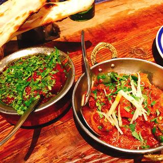 パクチーとラムのカレー(ダバインディア (Dhaba India))