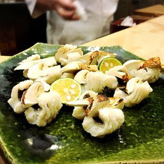 鱧と松茸(初音鮨 (はつねすし))
