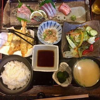 天ぷら御刺身定食(博多 酒佳蔵)