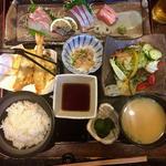 天ぷら御刺身定食