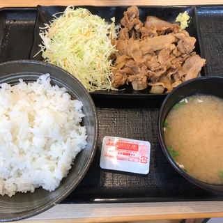 生姜焼き定食(吉野家 東バイパス松島店 )