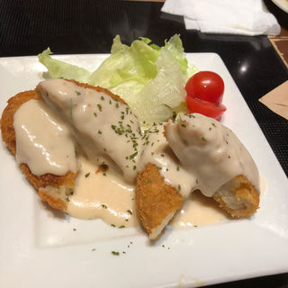 黒豚コロッケ 4種チーズソースがけ(とりとうどんと元気な酒 はっぷう 堺店 )