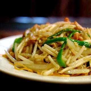 豚肉とモヤシヤキソバ(慶楽)