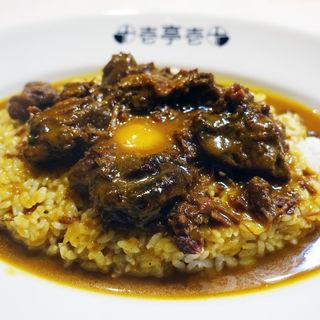 カレーライス+煮込みビーフ+生玉子(十壱亭 )
