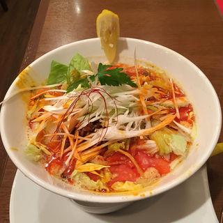 イエロー担々麺(東京担々麺 RAINBOW 立川ラーメンスクエア店)