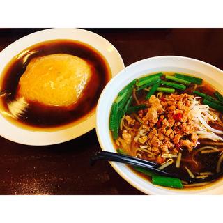 ラーメンセット (台湾ラーメン、天津飯(金源)