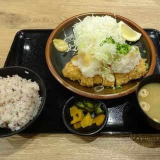白葱おろし豚ロースかつセット(120g)(とんかつ薩摩 ヨドバシ横浜店)