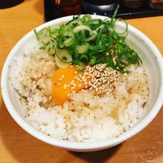 奥久慈鶏の卵かけ御飯(らーめん銀杏 )