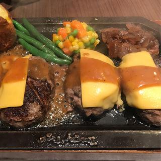 ダブルハンバーグステーキチーズトッピング(ハングリータイガー トレッサ横浜店 )