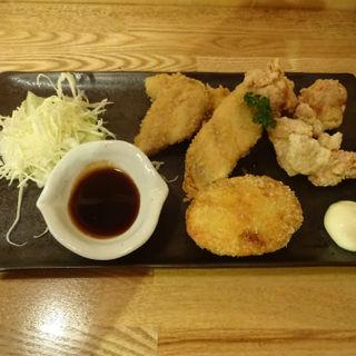 あれこれミックス定食(復興居酒屋がんばっぺし 横浜桜木町店)