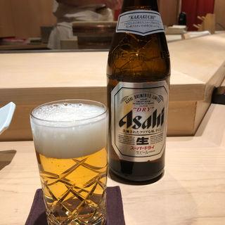 アサヒスーパードライ中瓶(食彩酒粋へいぞう )