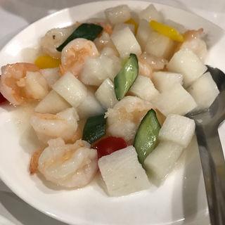 芝エビと山芋塩炒め(味坊 (アジボウ))