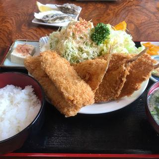 マグロ&目玉カレイフライ定食(漁師の海鮮丼 )