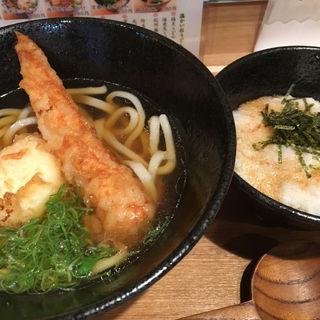 竹天玉うどん定食(本町製麺所 天の上 JR新大阪店)