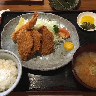 ミックスフライ定食(かま屋 )