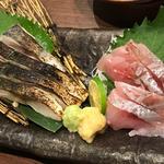 炙り〆鯖と直送鮮魚の盛り合わせ