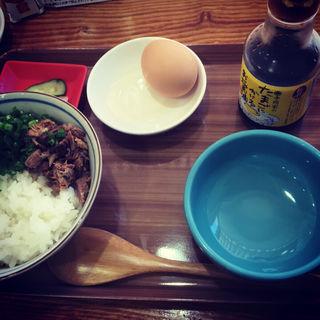 会津地鶏の玉子かけごはん(地鶏ラーメン ありがとう)