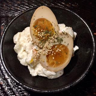 煮卵入りポテサラ(博多満月 八丁堀店 )
