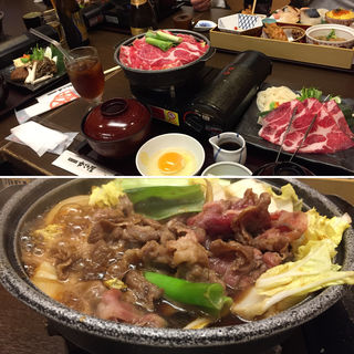 イベリコ豚すき焼き定食(かごの屋 森小路インター東店 )