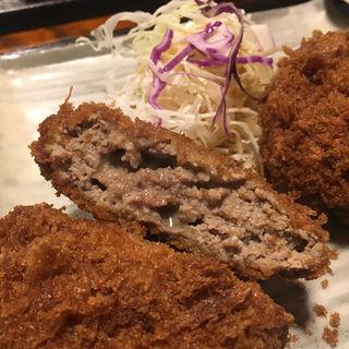 メンチカツ定食(牛かつ いち華 )
