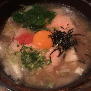 明太トロロ雑炊(居座火家 喜人)