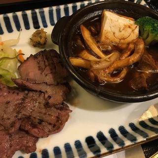 牛たん焼きときのこタンシチュー定食(仙台 辺見 三宮店 (せんだいへんみ))