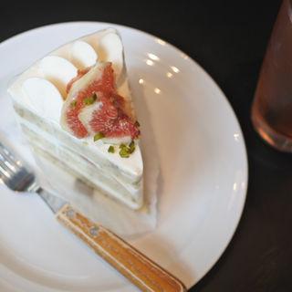 いちじくのショートケーキ(The LOAF Cafe)