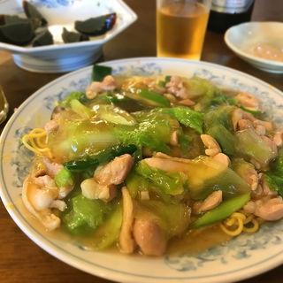 勞麺(海老かしわ蕎麦)(広東料理 鳳泉 )