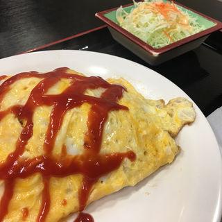 オムライス定食(伊賀ドライブイン )