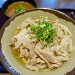 豚肉うどん(中)温+ミニカレー丼(香川 一福 立川店)