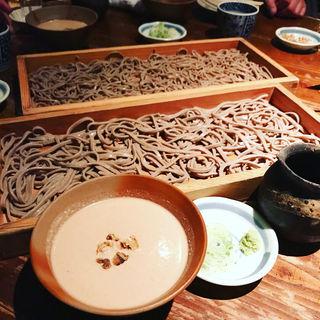 胡桃だれ蕎麦切り(板蕎麦 山灯香 (いたそばさんとうこう))