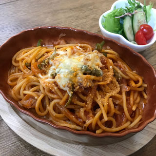 豚バラのこく甘ナポリタン(cafe koume)