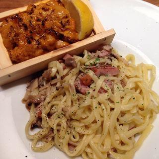 炙り板うにのスパゲティ(タベルナ トーキョー)