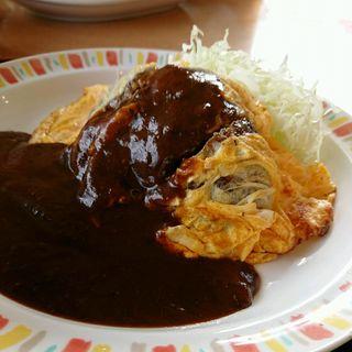 ピカタハンバーグ定食(バーグ 浅田店)