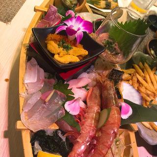 お刺身15種盛り(大盛鮮魚カツオ )